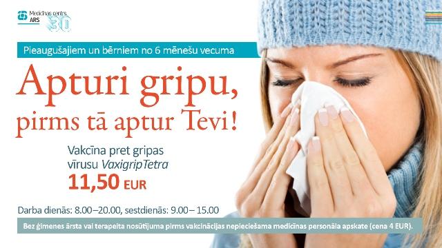 Apturi gripu, pirms tā aptur Tevi!