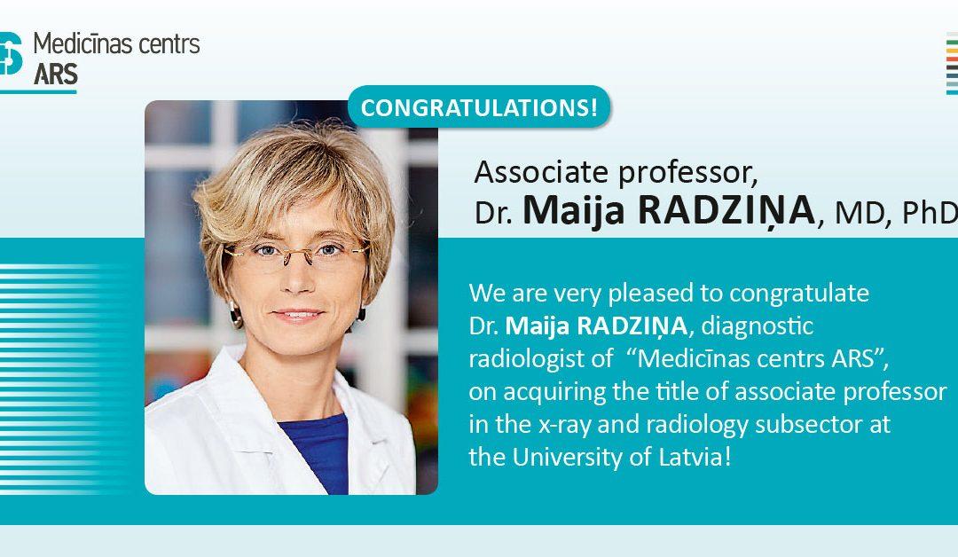 Dr.med. Maija RADZINA was elected as Associate Professor!