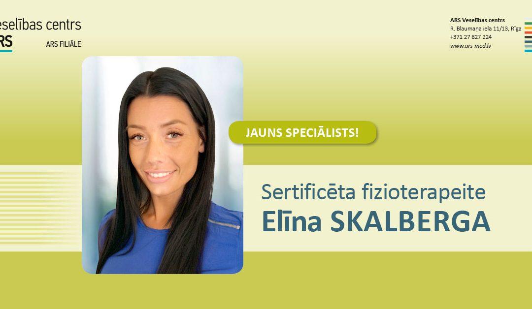 Jauns speciālists – fizioterapeite Elīna Skalberga
