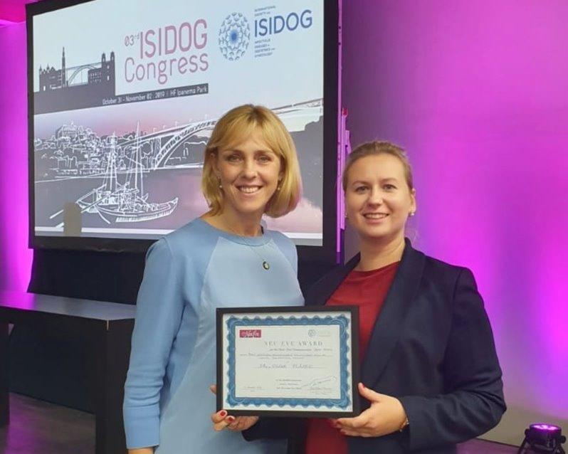 Apsveicam ginekoloģi Dr. Olgu PLISKO ar iegūto 1.vietu starptautiskajā kongresā