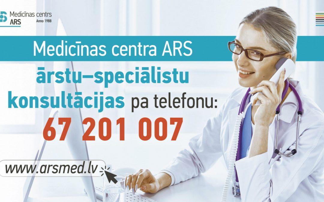 Medicīnas centra ARS ārstu konsultācijas pa telefonu