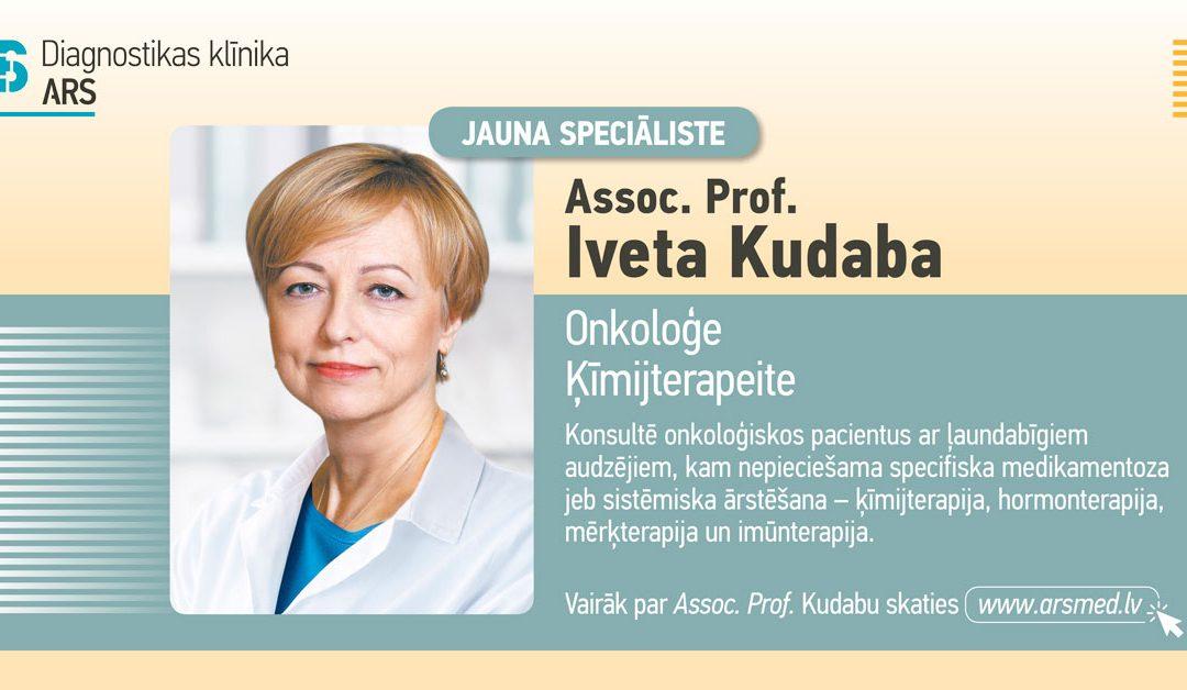 ARS Diagnostikas klīnikā darbu uzsāk onkoloģe ķīmijterapeite Prof. Iveta Kudaba