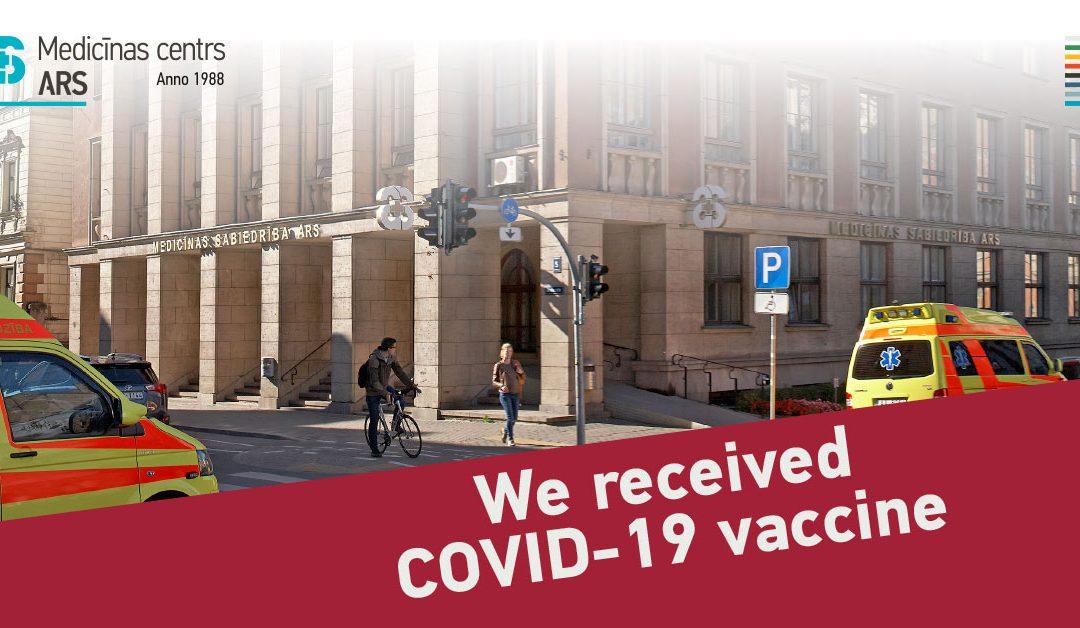Medicīnas centrs ARS darbinieki ir vakcinējušies pret COVID-19
